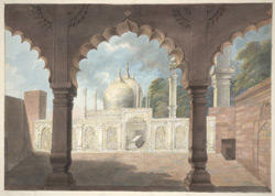 The tomb of the Emperor Shah 'Alam at the dargah of Qutb-Sahib at Mahrauli.